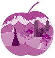 apple with princess vector image
