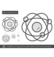 Atom structure line icon vector image vector image