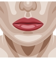 Beauty Woman Face with perfect Skin vector image vector image