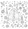 big space doodle set vector image vector image