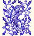 blue oak fairy azulejo ceramic tile magnet vector image vector image