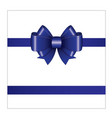 blue ribbon bow 02 vector image vector image