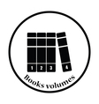 Books volumes icon vector image