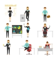 Businessperson Set Of Characters vector image vector image