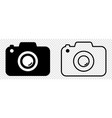 camera icons photo in flat and line art vector image