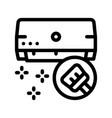 clean domestic conditioner thin line icon vector image