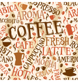Coffee tile vector image vector image