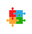 colorful jigsaw puzzle flat puzzle game vector image