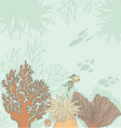 Corallfishandtext vector image vector image