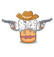 cowboy easter cake character cartoon vector image vector image