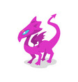 cute baby dragon funny fantasy animal character vector image vector image