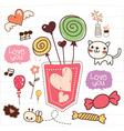 cute doodle candy vector image vector image