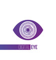 cyber futuristic purple eye symbol icon or cyber vector image vector image