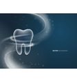 Dental background design vector image