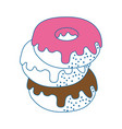 donut delicious dessert vector image