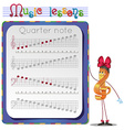 Draw a Quarter note vector image vector image