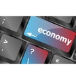 economy button on computer keyboard keys vector image vector image