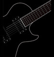 electric guitar close up vector image vector image