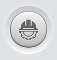 engineering icon gear and hard hat development vector image