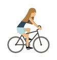 female athlete practicing biking vector image vector image
