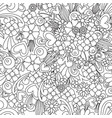 flower wallpaper zentangle art seamless pattern vector image vector image