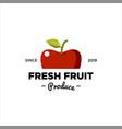 fresh fruit produce logo vector image vector image