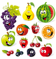funny fruit cartoon vector image vector image