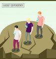 gadget dependency isometric composition vector image vector image
