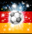 german soccer flag vector image