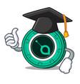 graduation siacoin character cartoon style vector image vector image