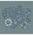 Hand drawn colored floral pattern vector image