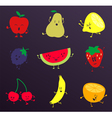 Happy Fruits Characters Set vector image vector image