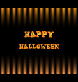 happy halloween card with text on black and vector image