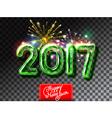 Happy New 2017 Year firework invitation vector image vector image