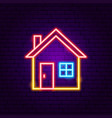 home neon sign vector image vector image