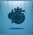 human heart concept vector image vector image