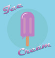 ice cream on a stick popsicle icon vector image vector image