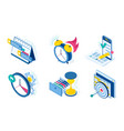 icons set task and time management vector image