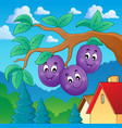 image with plum theme 2 vector image vector image