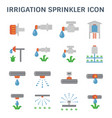 irrigation sprinkler icon vector image vector image