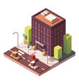 isometric office building vector image vector image
