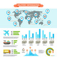 logistics delivery shipping and cargo loading vector image
