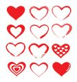 love heart designs vector image vector image