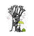 Magic Tree rabbits and birdsAnimals of the vector image vector image