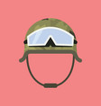 military metal helmet with goggles vector image