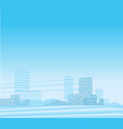 modern city background vector image vector image