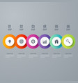 modern infographics six circle process template vector image