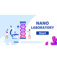 nano laboratory for genetic research flat webpage vector image vector image