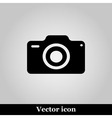 photo camera icon on grey background illus vector image vector image