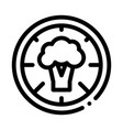 pizza broccoli icon outline vector image vector image